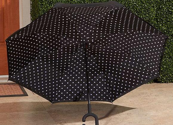 Inverse Opening Flip-Resistant Umbrellas