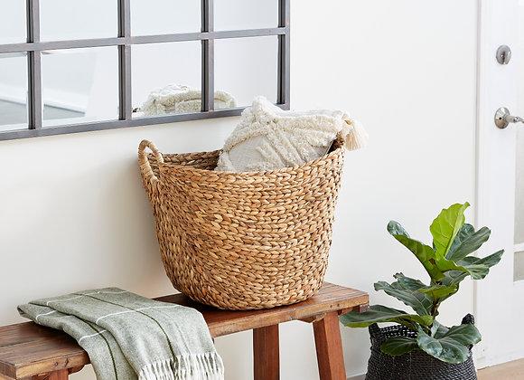 """DecMode 21"""" x 17"""" Brown Sea Grass Contemporary Storage Basket, 1 - Piece"""