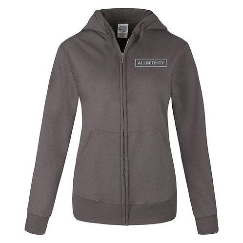 Ladies Core Fleece Full-Zip Hooded - Grey Sweatshirt