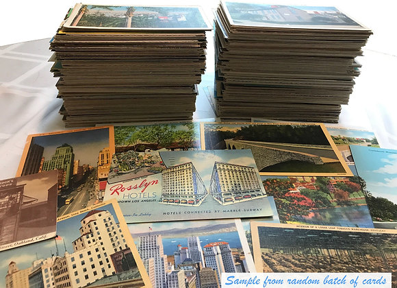 Antique and vintage postcards - random lot of 25 - from the United States (1920
