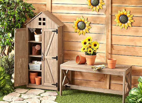Barn-Style Outdoor Storage Cabinets or Benches