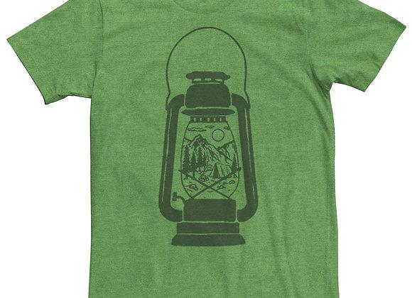 Men's Camping Lantern Great Outdoors Vintage Graphic Tee