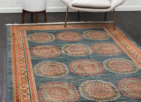 Unique Loom Provence Fars Vintage Floral Area Rug or Runner