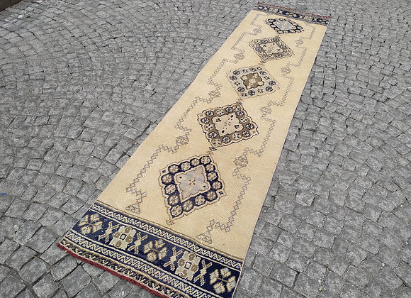 Turkish Runner Rug 11.5x3ft,long vintage rug,entryway rug,hallway rug,handmade