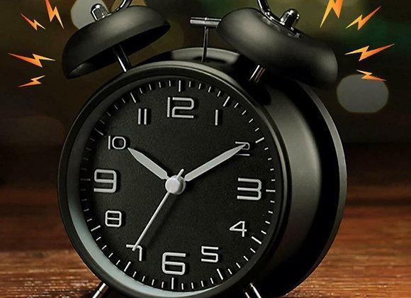 Vintage Extra Loud Alarm Clock Twin Bell Battery Analogy Backlight Bedroom Hoom