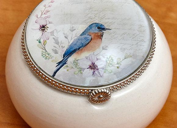 Vintage Bird Keepsake Boxes