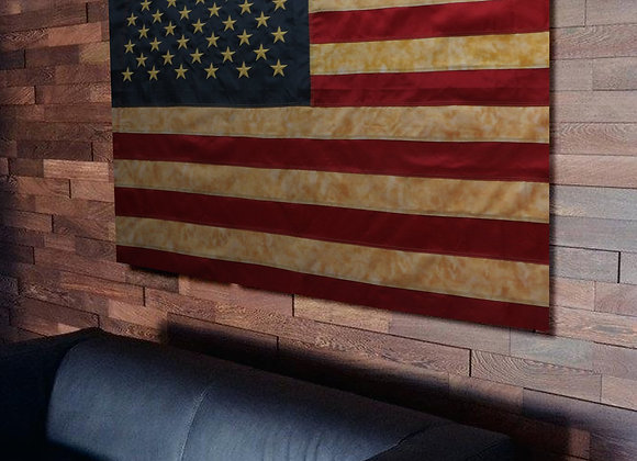 Anley Vintage Style Tea Stained American US Flag 3x5 Foot Nylon - Embroidered S