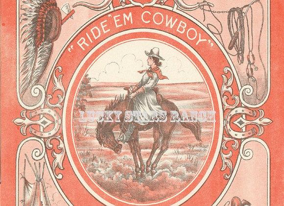 Cowgirl Rodeo Pendelton Oregon Let er Buck Poster 18x24