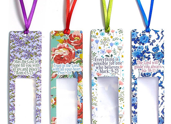 Set of 4 Inspirational Magnifying Bookmarks