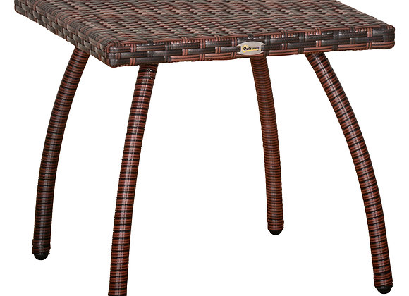 Outsunny Rattan Wicker Side Table End Table with All-Weather Material for Outdo