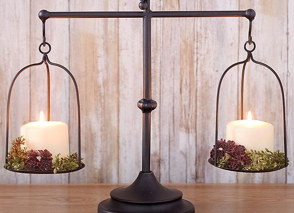 Decorative Farmhouse Scale Candleholder