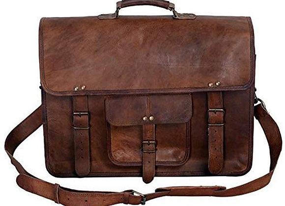 Vintage Men's Brown Handmade Leather Briefcase Best Laptop Messenger Bag Satche
