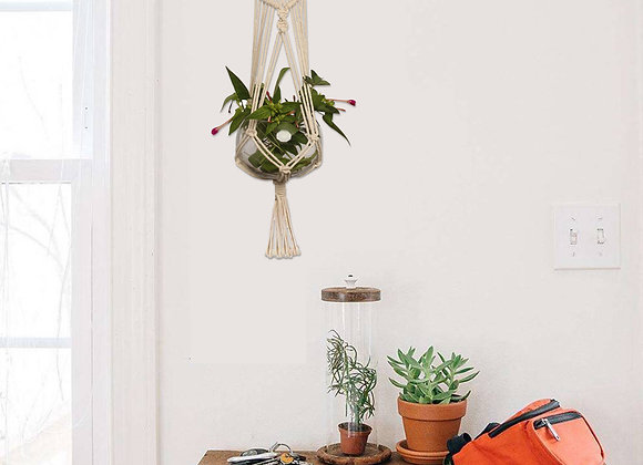 2-pack Macrame Plant Hanger,Indoor Outdoor Hanging Planter Basket Pot Holder Co