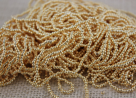 2mm Gold Vaccum Plated Made in Japan (200 pieces)        Buy together, get free