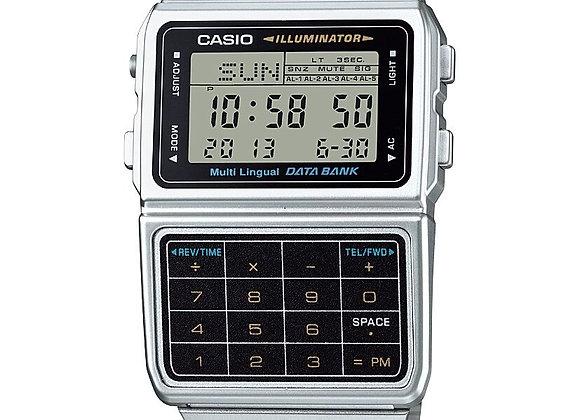 Casio Men's Stainless Steel Vintage Calculator Watch DBC611-1VT