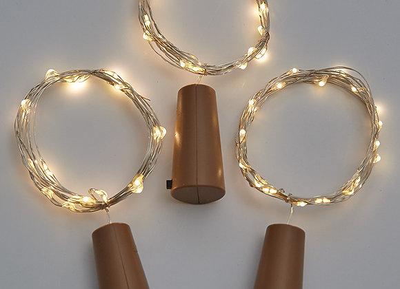 Sets of 3 Wine Bottle Stopper String Lights