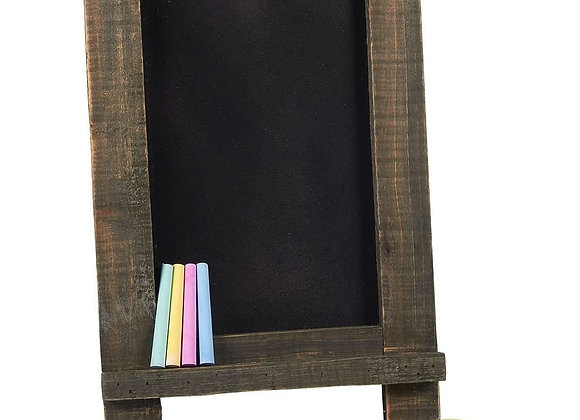Tabletop Chalkboard Sign with Stand, 4 Chalks and 1 Eraser Included, Vintage &