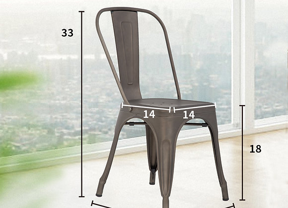 Stackable Chair Restaurant Chair Metal Chair Chic Metal Kitchen Dining Chairs S