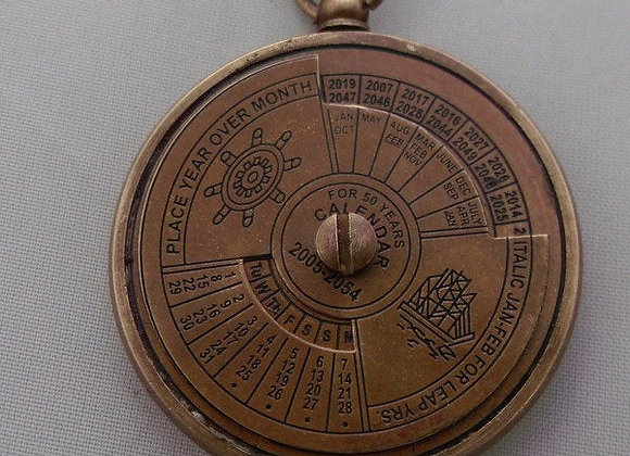 Nautical 50 Year Calender brass Pendant Ship Necklace        Buy together, get