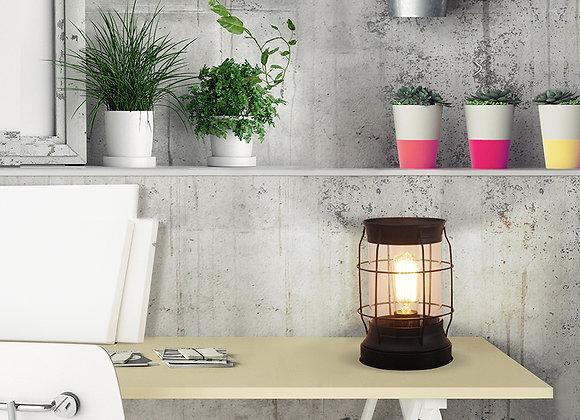 "Better Homes & Gardens Modern Bronze Metal & Glass Edison Lantern 9""H"