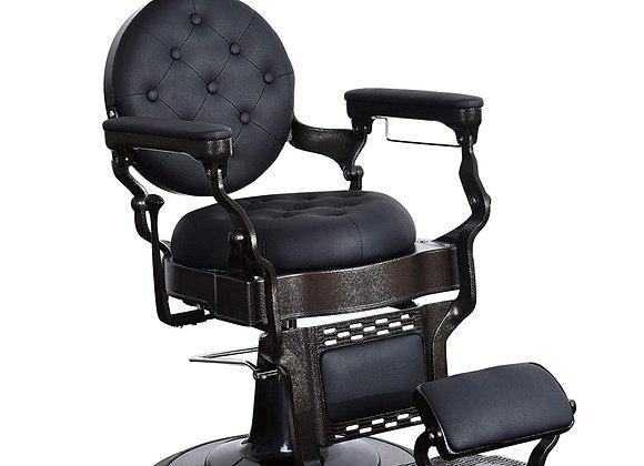 BarberPub Vintage Barber Chair Heavy Duty Metal Frame All Purpose Hydraulic Rec