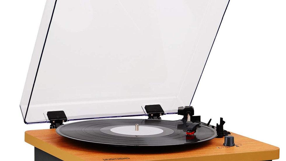 Vintage Style Vinyl Record Player