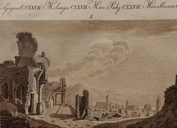 "1790-1810 Antique print ""SETTLEMENT of Saguntum under the Domination of GOTHS"""