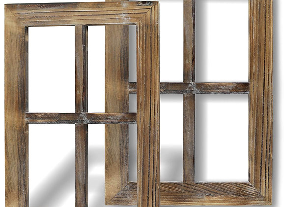 Greenco Wooden Rustic Wall Mount Window Frames Vintage Country Farmhouse Wall D
