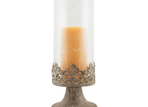 Stonebriar Collection Vintage Large Hurricane Candleholder