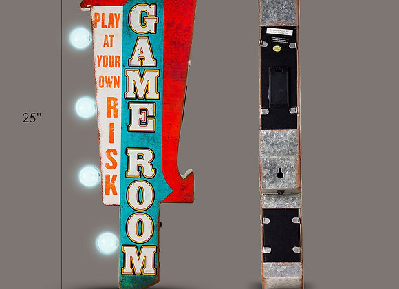 Game Room Vintage LED Marquee Wall Sign