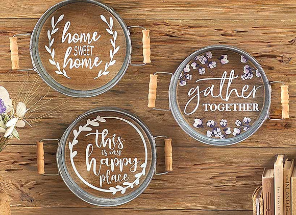 Sentiment Tray Wall Hangings