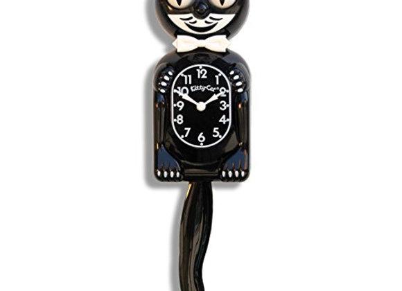 Kitty-Cat Classic Black Vintage Cat Clock