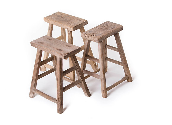 Chinese Old antique wooden Stool - unique pieces, imported from China