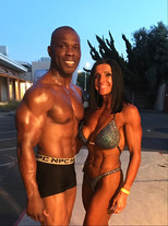 First bodybuilding competition together after show