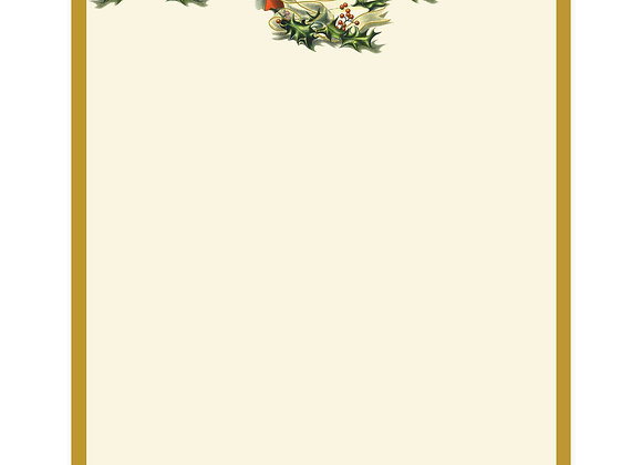 Great Papers! Vintage Christmas Holly Letterhead, 80 count