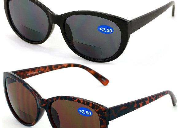 V.W.E. 2 Pairs Women Bifocal Reading Sunglasses Reader Glasses Cateye Vintage J