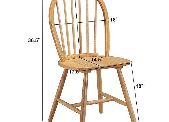 Costway Set of 4 Vintage Windsor Dining Side Chair Wood Spindleback Kitchen Roo