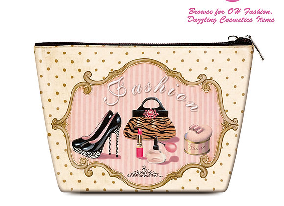 OH Fashion Travel Cosmetic Bag Makeup case organizer toiletry bag Vintage Queen