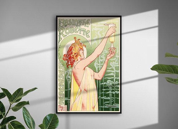 Vintage Poster Absinthe Art Nouveau french print green