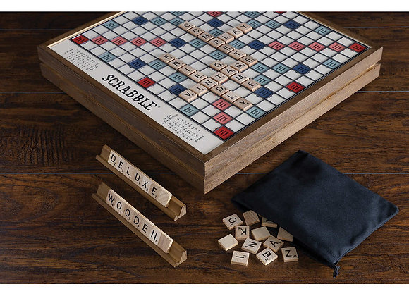 Scrabble Deluxe Vintage Edition Ages 8 & Up 2-4 Players