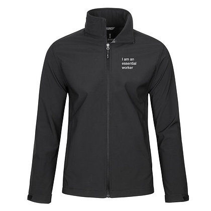 """I am an essential worker"" Softshell Men's Jacket"