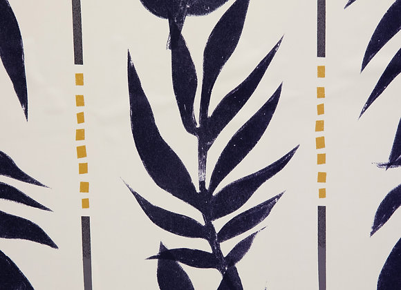 Navy Vintage Palm Peel and Stick Wallpaper by Drew Barrymore Flower Home