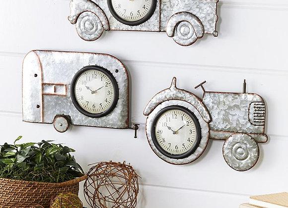 Galvanized Metal Novelty Wall Clocks