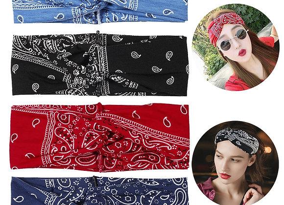 4PCS Boho Headbands for Women,Kapmore Vintage Bandana Flower Printed Head Wrap