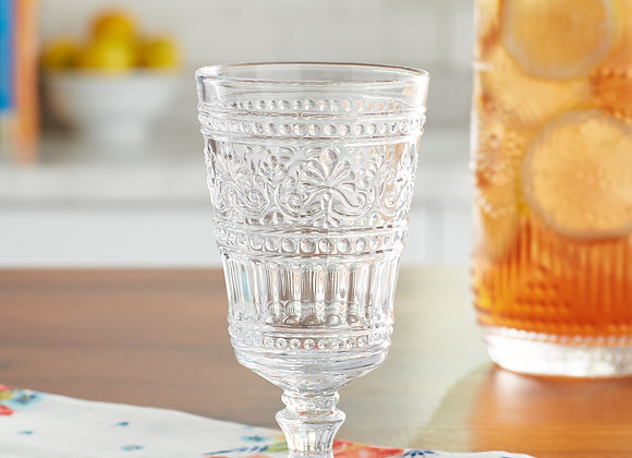 The Pioneer Woman Cassie 4-Piece Footed Glass Goblet Set, Clear