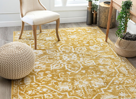 """Well Woven Dazzle Disa Gold Vintage Medallion Oriental 5'3"""" x 7'3"""" Area Rug"""