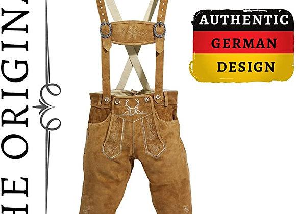 BAVARIA TRACHTEN Authentic German Lederhosen for Men, Oktoberfest Traditional C