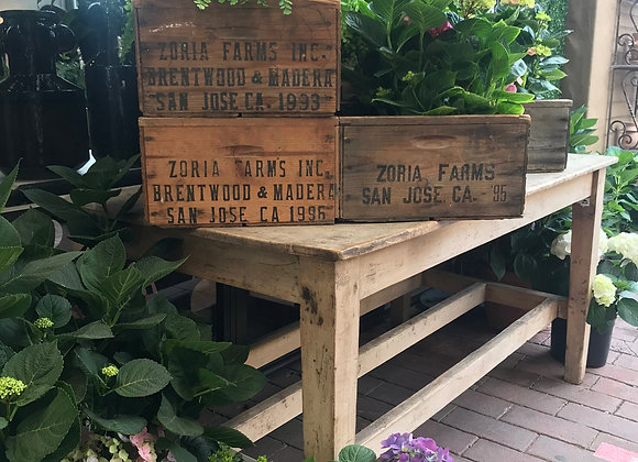 Vintage Wood Crates - ZORIA FARMS Crate