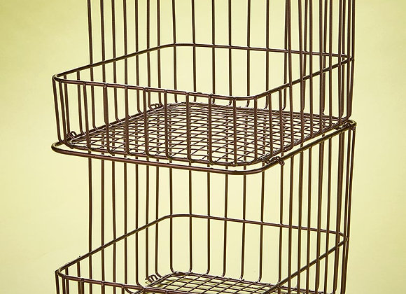 Sets of 2 Stackable Wire Storage Baskets