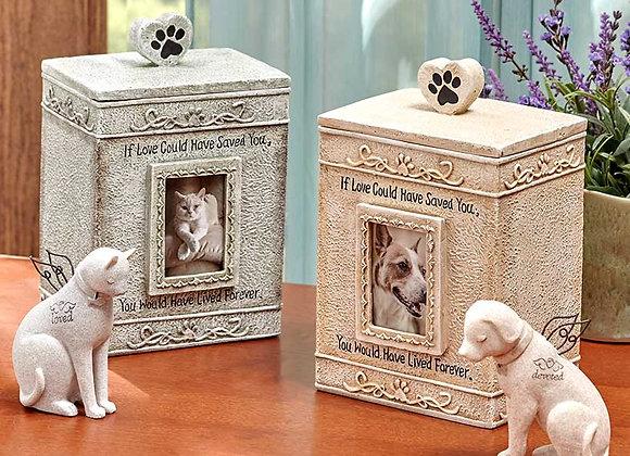 Faithful Angel Pet Memorial Figurines or Urns